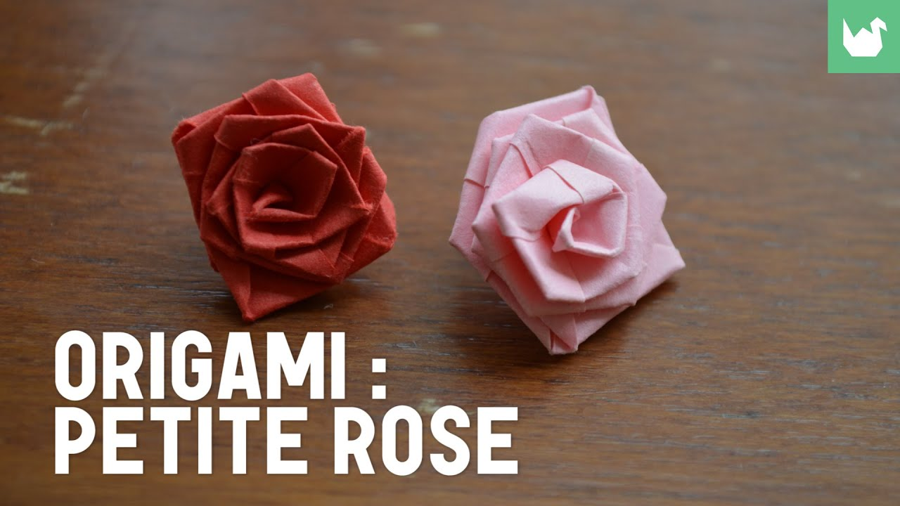 Origami faire une petite rose en papier hd youtube - Origami rose facile a faire ...