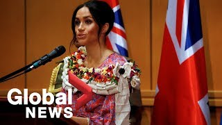 Meghan Markle speaks about importance of education at university in Fiji