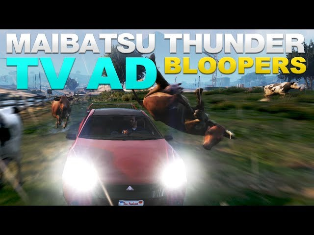 GTA V Maibatsu Thunder TV Spot - BLOOPERS