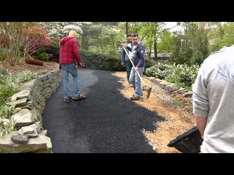 How to pave a road with asphalt ,the complete paving process.