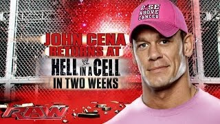 John Cena returns at Hell in a Cell: Raw, Oct. 14, 2013