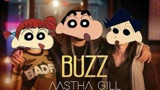 Aastha Gill ft. Badshah: Buzz Song |Official Shinchan Video| Shinchan Cartoon Mix
