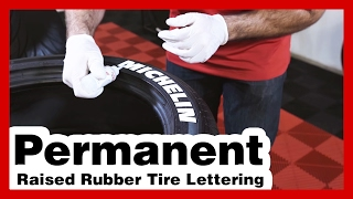 Tire Stickers: Install Permanent Tire Letters: Michelin Tire Lettering