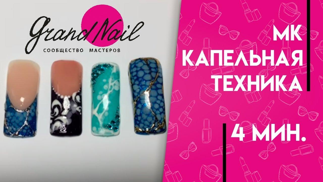 капельный дизайн ногтей: