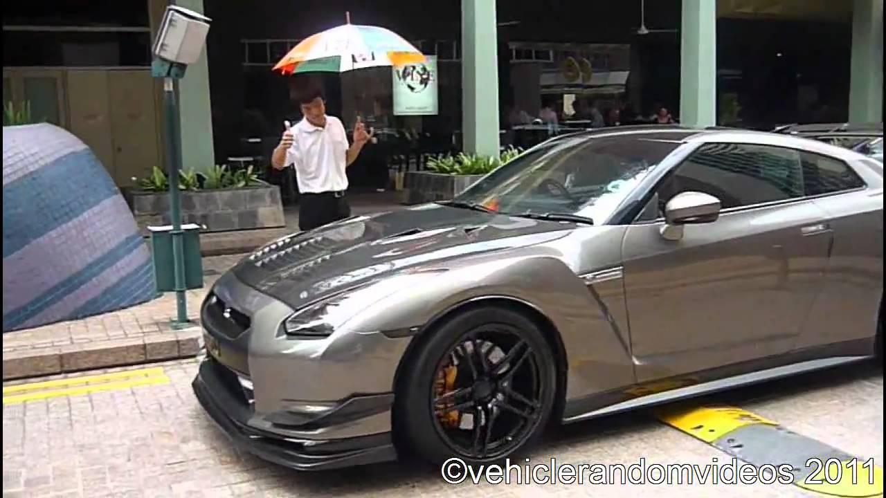 Modified Nissan Gtr R35 Startup Driveby And Accelerate