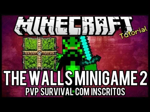 The Walls Minigame 2 - PVP Survival Com Inscritos Minecraft