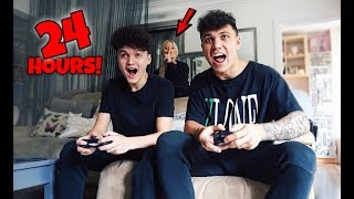 I Spent The Night In My Boyfriends House He Had No Idea 24 Hour Challenge