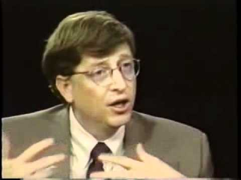 bill gates 1996 interview / charlie rose