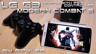 Modern Combat 5 / LG G3 2K Gaming with PS3 Controller Test