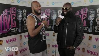 Rick Ross at V103 live Pop Up Concert