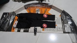 UNBOXING SKS BLUEMEL MUDGUARDS AND CASTELLI SPF 50+ ARM WARMERS