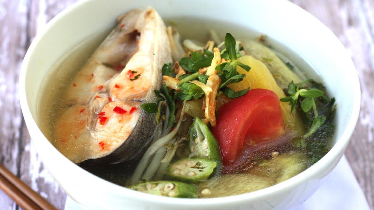 Vietnamese Sweet Sour Fish Pineapple Soup