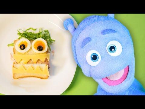 Gotowanie Dla Dzieci - Zabawna Kanapka -  Bajka Ubu