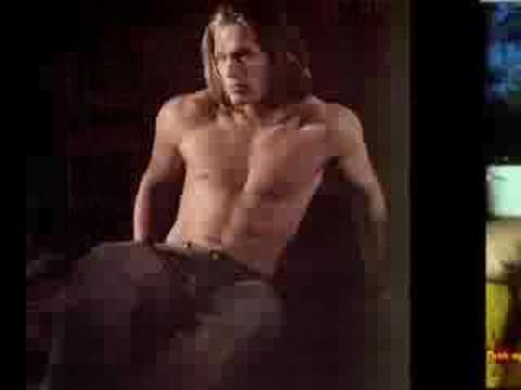 hair -sexy shirtless long haired hunks[tommy haas is one] Video