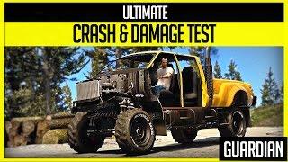 GTA V - Ultimate Crash and Damage Test - Guardian ( GTA 5 PC Editor )
