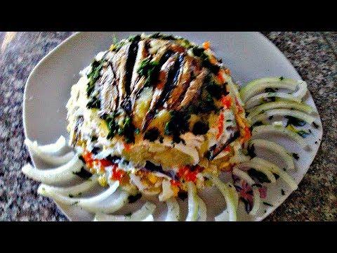 Салат из картофеля шпротов
