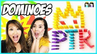 Amazing Dominoes Challenge with Princess ToysReview!!!