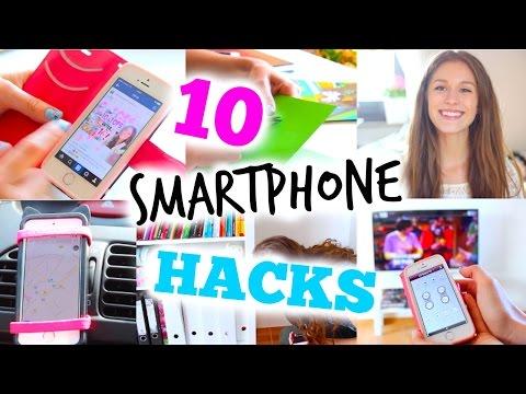 10 Smartphone LIFE HACKS, die ihr kennen müsst! | BarbieLovesLipsticks