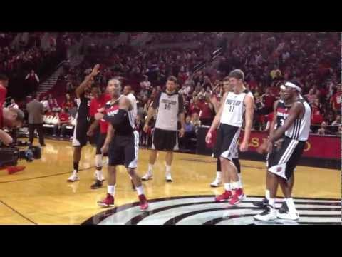 2012 Trail Blazers Fan Fest: Rookies Do The Dougie