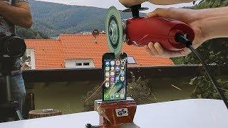 IPHONE 7 CUT IN HALFS!! EXTREME CRASH TEST