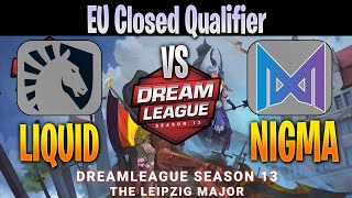 Team Liquid vs NIGMA (ex-Liquid) | Bo2 | EU Closed Qualifier DreamLeague Season 13 | Dota 2 Pro