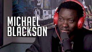 Michael Blackson Talks Coming Up w/ Kevin Hart + Sings National Anthem