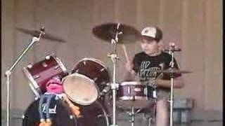 12 Year Old Drummer Doing Wipe Out