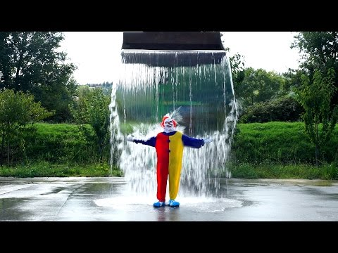 Killer Clown ALS Ice Bucket Challenge! #IceBucketChallenge #strikeoutals