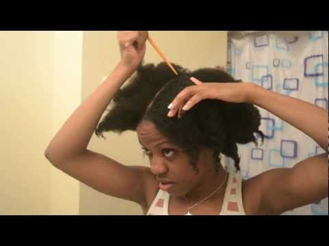 [*68*] Natural Hair | Braided Protective Hair Style Updo With Extensions