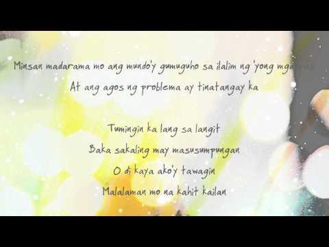[LYRICS] Yeng Constantino - Hawak Kamay (Movie Version)