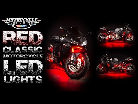 LEDGlow's Red Classic Motorcycle LED Lighting Kit