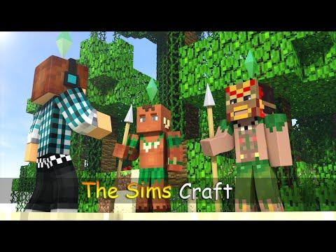 The Sims Craft Ep.34 - Encontramos Nativos na Viagem !! - Minecraft