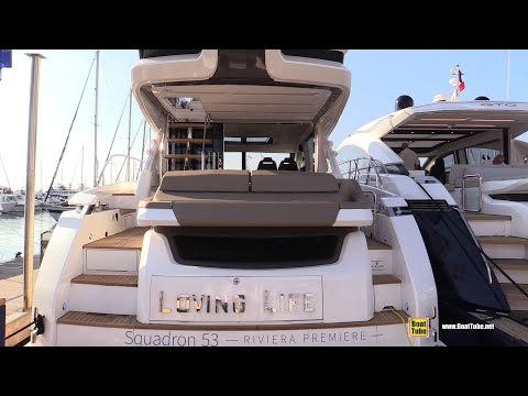 2019 Fairline Squadron 53 Yacht - Deck and Interior Walkaround - 2018 Cannes Yachting Festival
