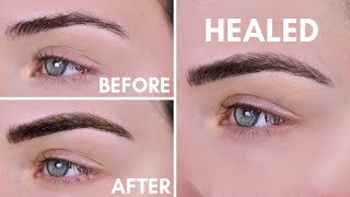 Microblading Experience | Before & After | 10 Day Healing Process
