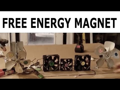 Ordinary guy discovers FREE ENERGY of SPINNING ELECTRICAL SECRET CPU FAN