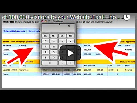 Get 100.000 visitors to your Website Fast! - how to drive traffic to your website 2017