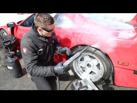 How to Wash your car in Winter: Ferrari F40