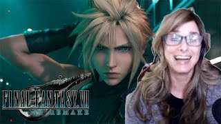 My MOM Reacts to Final Fantasy VII Remake Opening Movie Trailer