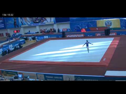 Anastasia Grishina - floor - Russian Championships, 3/21/12