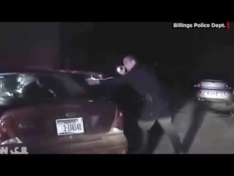 شرطي يصيب رجلاً طلب منه رخصة القيادة