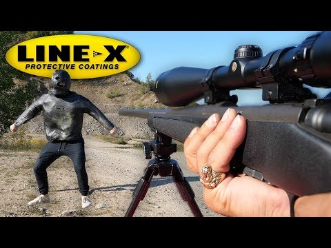 CAN LINE-X STOP A BULLET? (LINE-X EXPERIMENT) As Seen On TV Test!! thumbnail