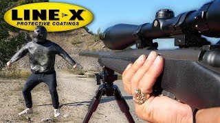 CAN LINE-X STOP A BULLET? (LINE-X EXPERIMENT) As Seen On TV Test!!