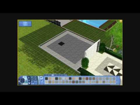 The Sims 3 - Building a House 12 - It's Black, It's White! - Part 2 - Architecture Video