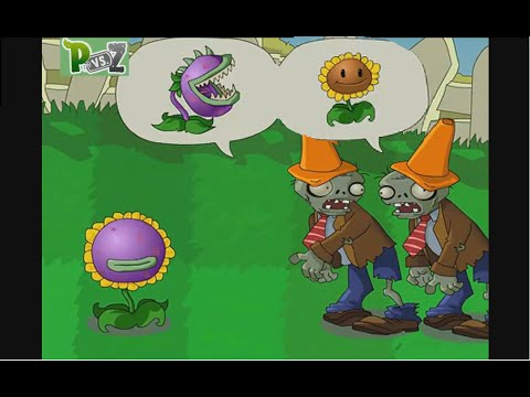 Chomper ! No Sunflower !.. Zombies Confused