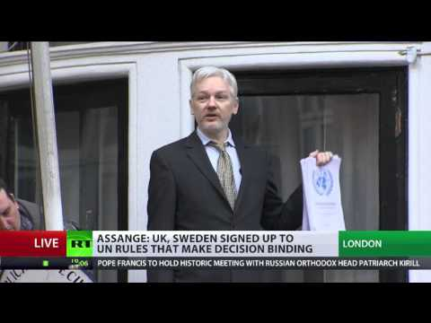 'Sweden, UK lost': Assange addresses supporters & media from Ecuadorian embassy balcony