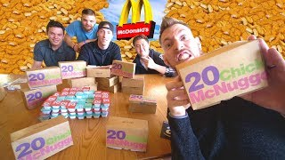 100 Chicken Nuggets Challenge! *WARNING GROSS*