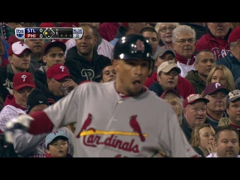 2011 NLDS Gm2: Furcal triples off wall to lead off game