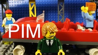 Lego Pim riding Roller Coaster !