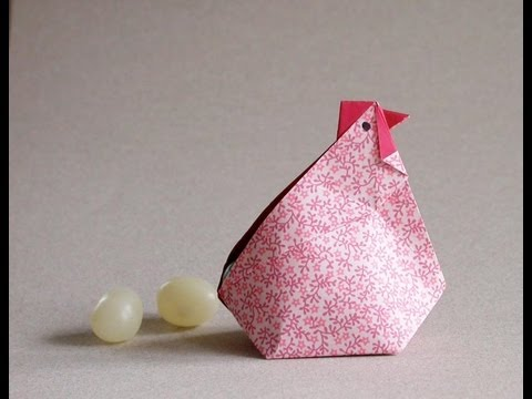 origami hen video instructions gallina en origami youtube. Black Bedroom Furniture Sets. Home Design Ideas