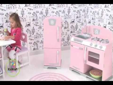 Nevera de juguete y cocina rosa de kidkraft en eurekakids for Cocinas chiquitas